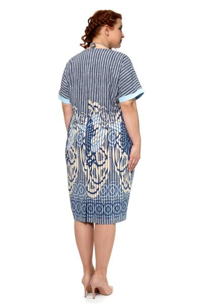 Артикул 303962 - платье большого размера - вид сзади
