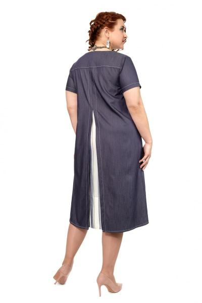 Артикул 334432 - платье большого размера - вид сзади