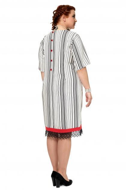 Артикул 303972 - платье большого размера - вид сзади