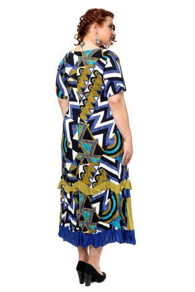 Артикул 301656 - платье большого размера - вид сзади