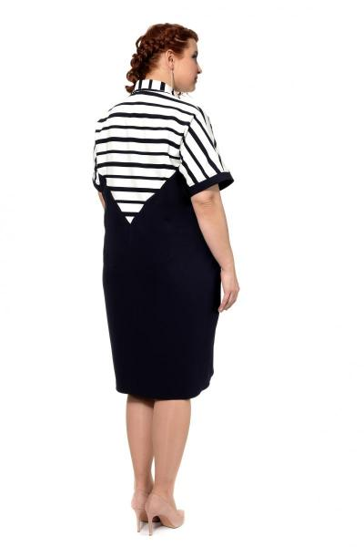 Артикул 303979 - платье большого размера - вид сзади