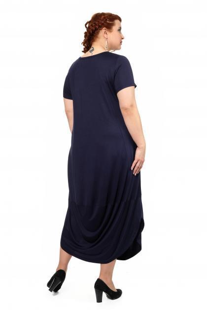 Артикул 334420 - платье большого размера - вид сзади