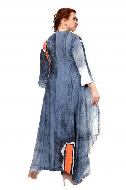 Артикул 301971 - платье большого размера - вид сзади