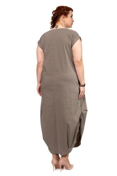 Артикул 307182 - платье большого размера - вид сзади
