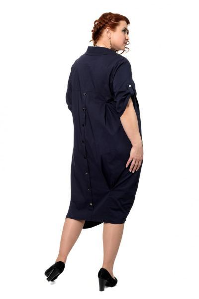 Артикул 307188 - платье большого размера - вид сзади