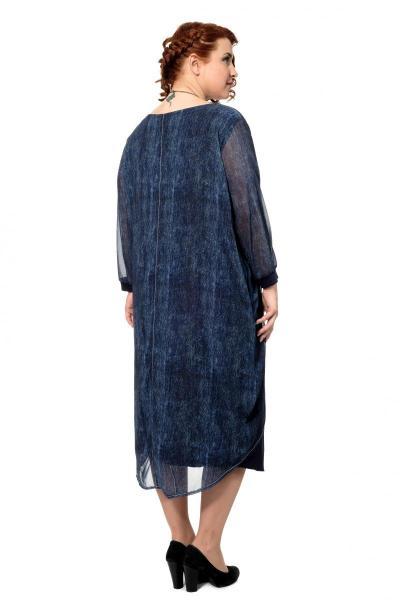 Артикул 301968 - платье большого размера - вид сзади