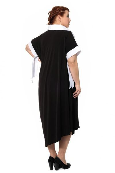 Артикул 429074 - платье с сорочкой большого размера - вид сзади