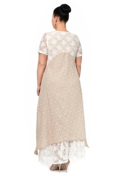 Артикул 17326 - платье большого размера - вид сзади