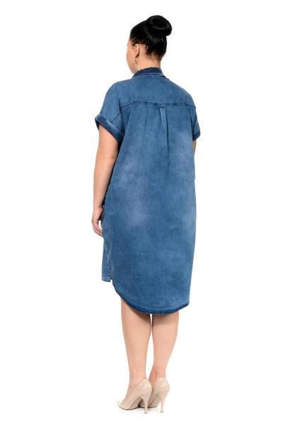 Артикул 300373 - платье большого размера - вид сзади