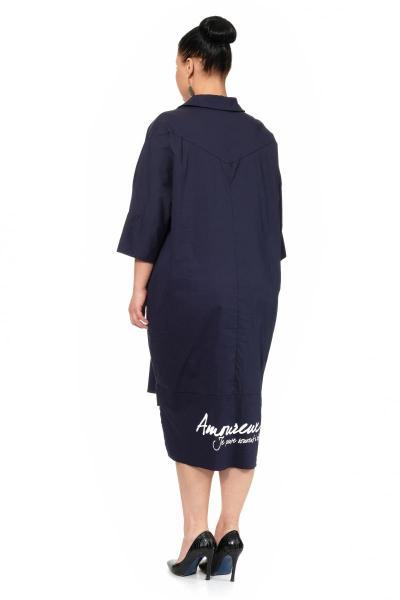 Артикул 307194 - платье большого размера - вид сзади