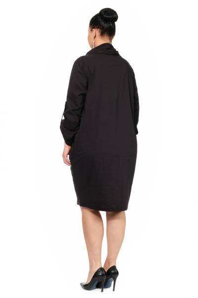 Артикул 307072 - платье большого размера - вид сзади