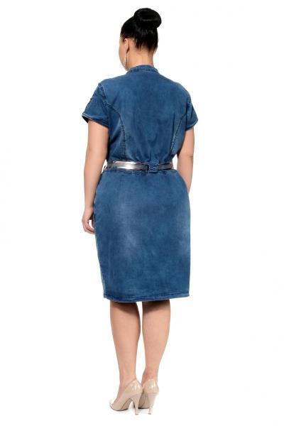 Артикул 300299 - платье большого размера - вид сзади