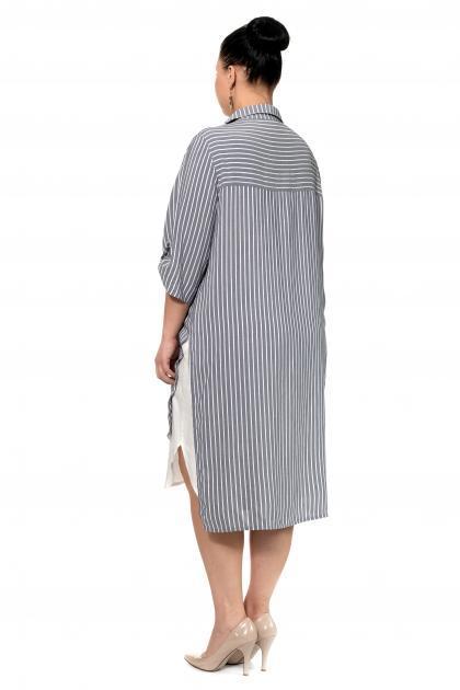 Артикул 334415 - платье большого размера - вид сзади