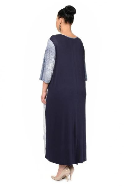 Артикул 301969 - платье большого размера - вид сзади