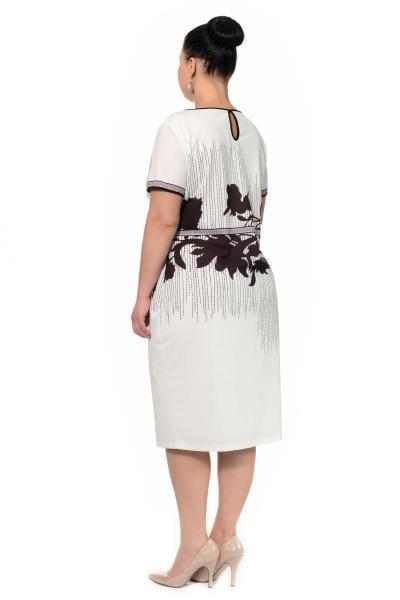 Артикул 429054 - платье большого размера - вид сзади