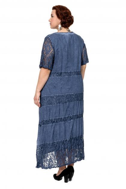 Артикул 367024 - платье большого размера - вид сзади