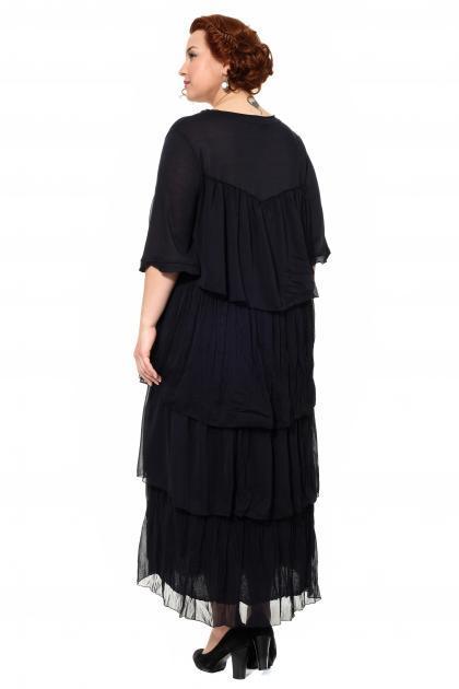 Артикул 300559 - платье большого размера - вид сзади