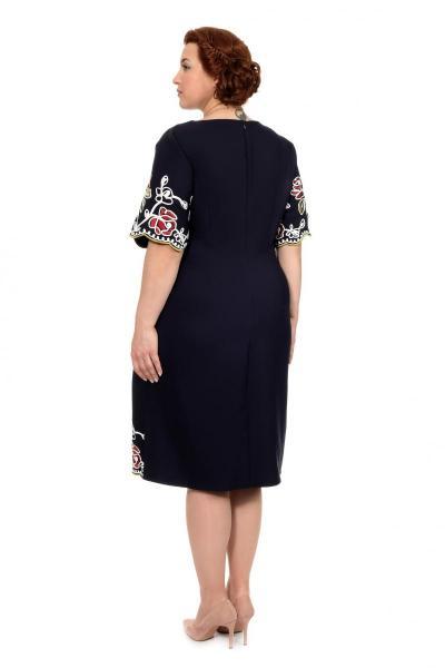 Артикул 304262 - платье большого размера - вид сзади