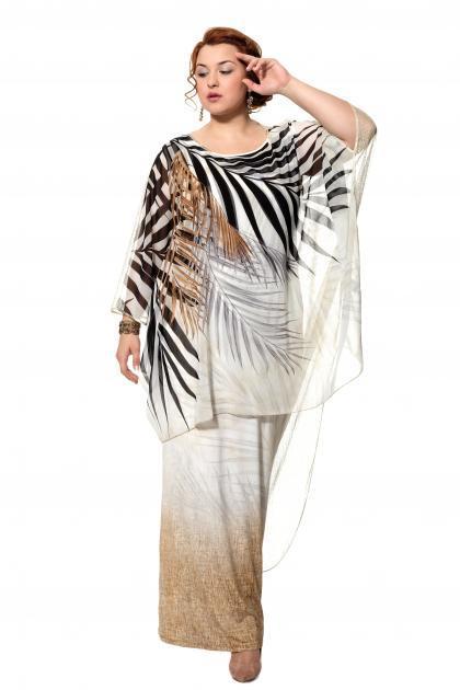 Артикул 906047 - платье большого размера