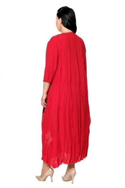 Артикул 200530-3 - платье большого размера - вид сзади