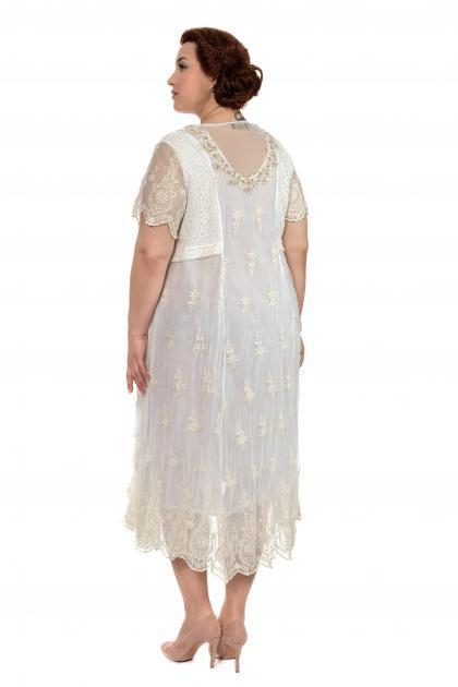 Артикул 307966 - платье  большого размера - вид сзади