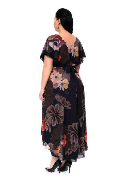 Артикул 17324 - платье  большого размера - вид сзади
