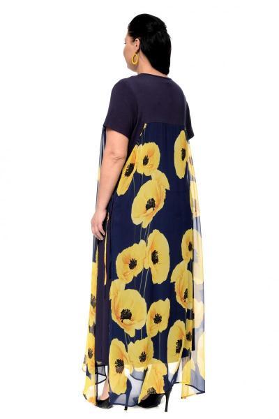 Артикул 17327 - платье  большого размера - вид сзади