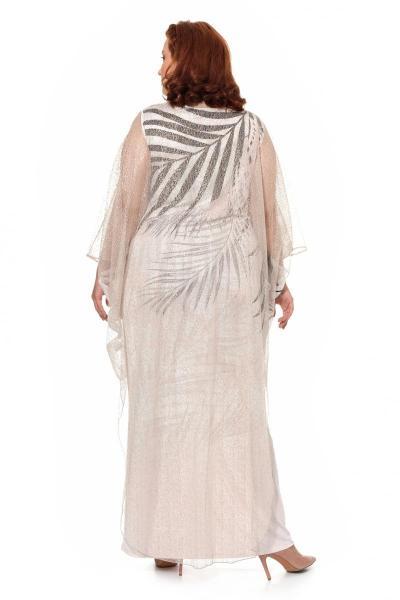 Артикул 906047 - платье большого размера - вид сзади