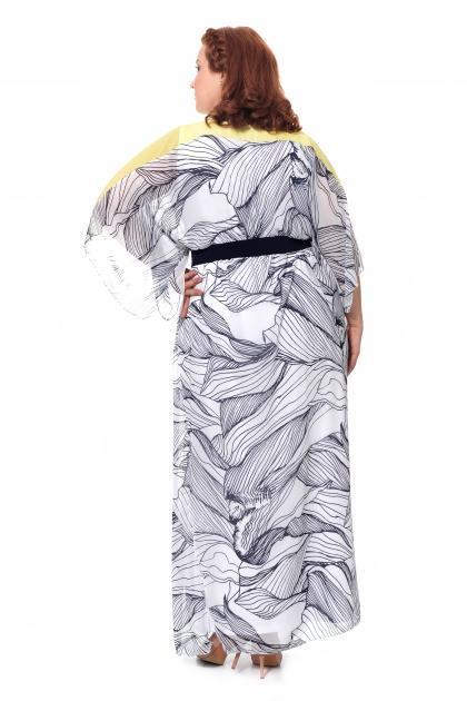 Артикул 17328 - платье большого размера - вид сзади
