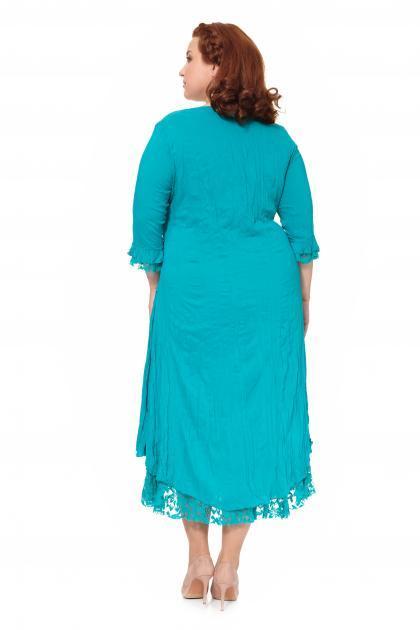 Артикул 303926 - платье большого размера - вид сзади