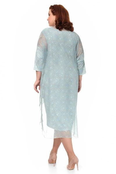 Артикул 906010 - платье большого размера - вид сзади
