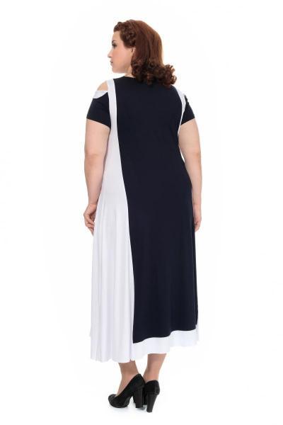 Артикул 303922 - платье большого размера - вид сзади