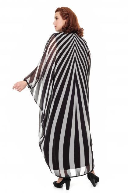 Артикул 906030 - платье большого размера - вид сзади