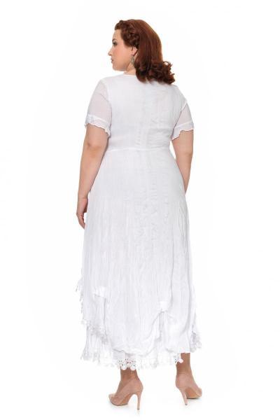 Артикул 303924 - платье большого размера - вид сзади