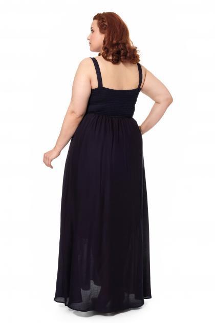 Артикул 17323 - платье большого размера - вид сзади
