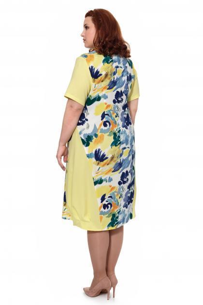 Артикул 17329 - платье большого размера - вид сзади