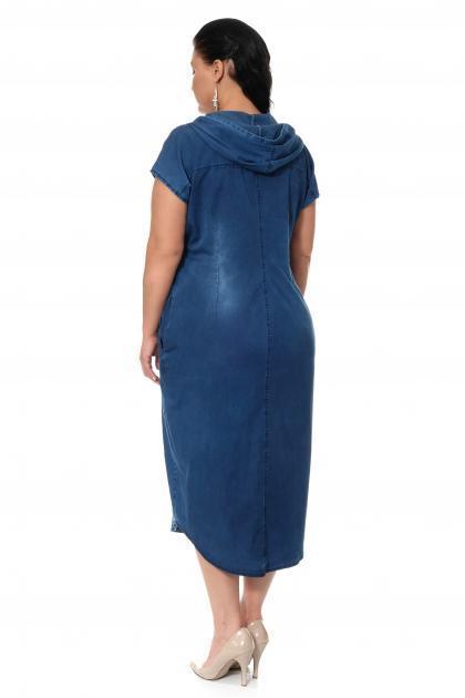 Артикул 300407 - платье большого размера - вид сзади