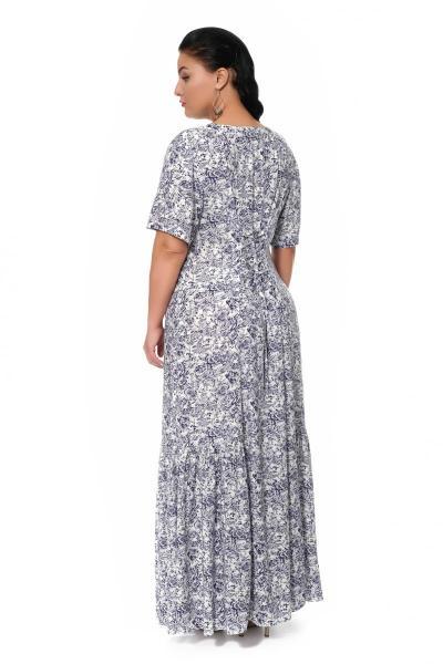 Артикул 17330 - платье большого размера - вид сзади