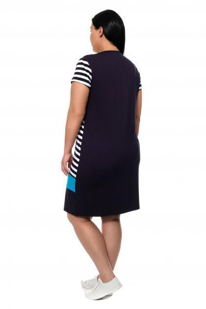 Артикул 3189 - платье большого размера - вид сзади