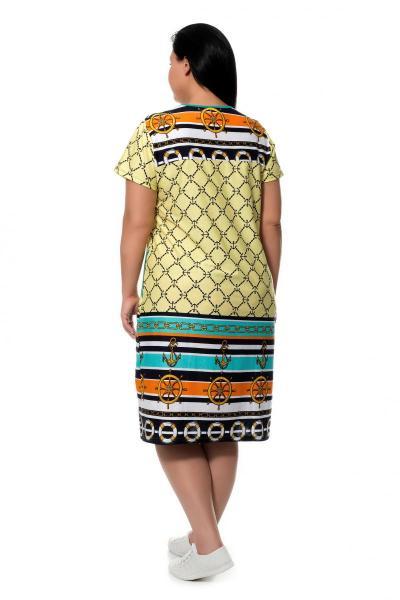 Артикул 3182 - платье большого размера - вид сзади