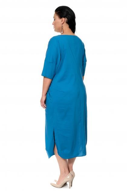 Артикул 17334 - платье большого размера - вид сзади