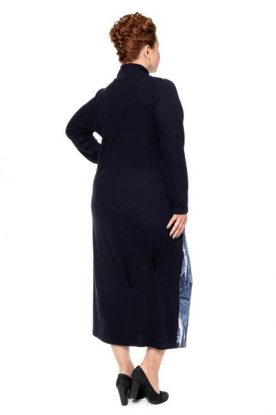 Артикул 17345 - платье большого размера - вид сзади