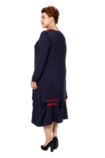Артикул 17343 - платье большого размера - вид сзади