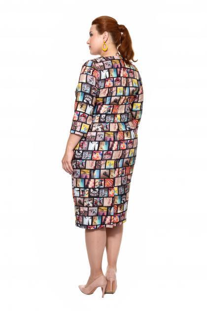 Артикул 16371 - платье большого размера - вид сзади