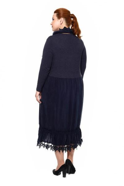 Артикул 202033 - платье большого размера - вид сзади