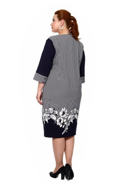 Артикул 203858 - платье большого размера - вид сзади