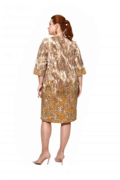 Артикул 203852 - платье большого размера - вид сзади