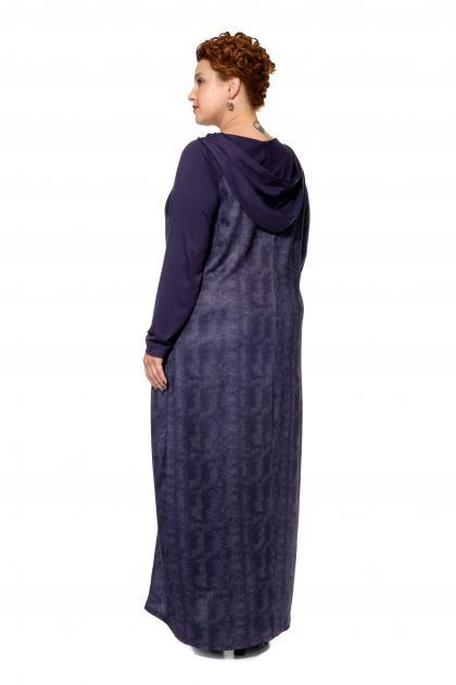 Артикул 17342 - платье большого размера - вид сзади