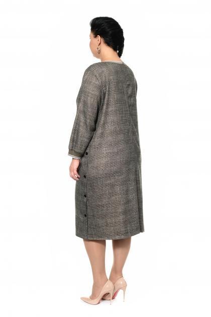 Артикул 301073 - платье большого размера - вид сзади