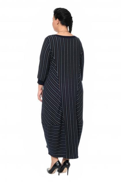 Артикул 335412 - платье большого размера - вид сзади